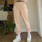 Fashion solid color pocket slacks