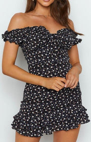 Women Ruffled Mini Dress