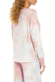 Tie-dye V-neck Long Sleeve Two-piece Suit