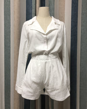 Cotton Single-Breasted Temperament Suit Shorts Suit