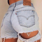 Ripped denim shorts hot shorts