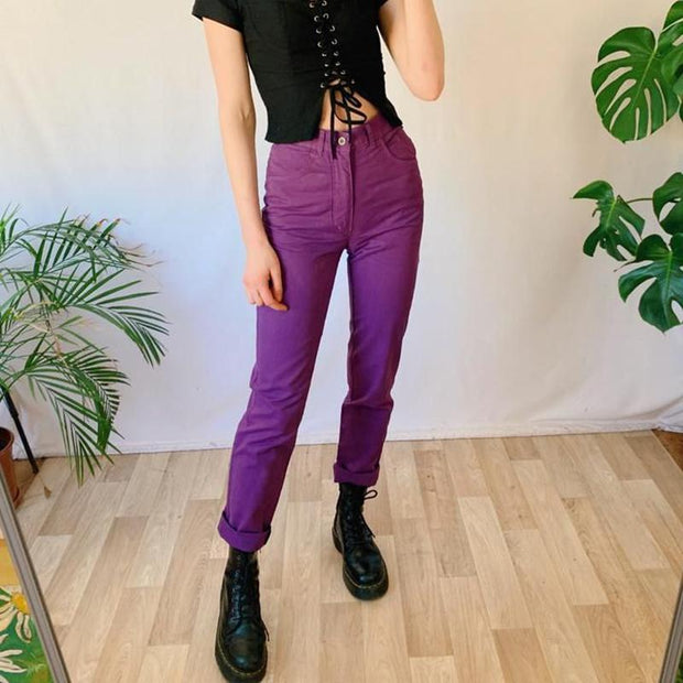 Fashion solid color slim overalls