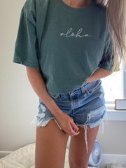 Women  vintage green  T-shirt