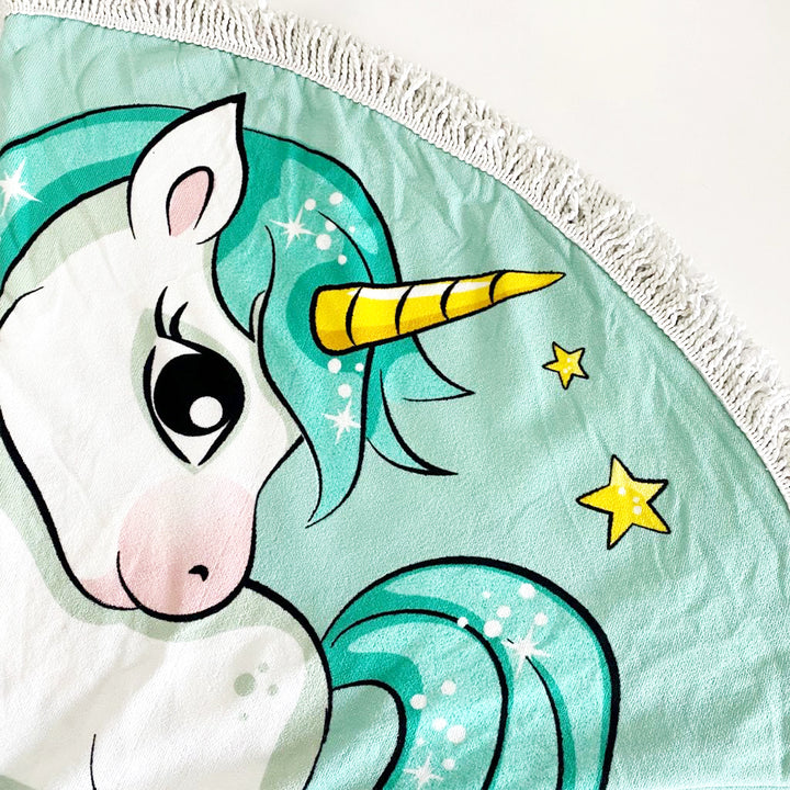 Unicorn | Round Beach Blanket