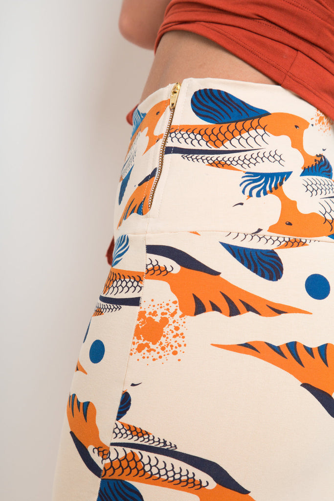 Favell Pencil Skirt In Ikan Print