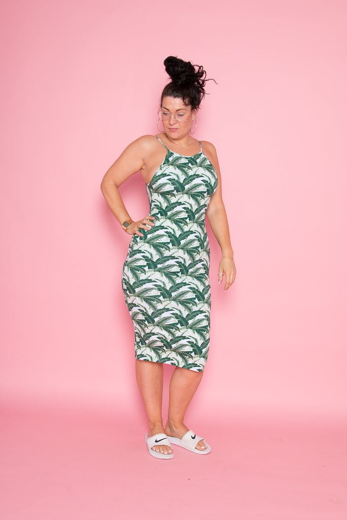 Nata Dress in Green Banana Leaf