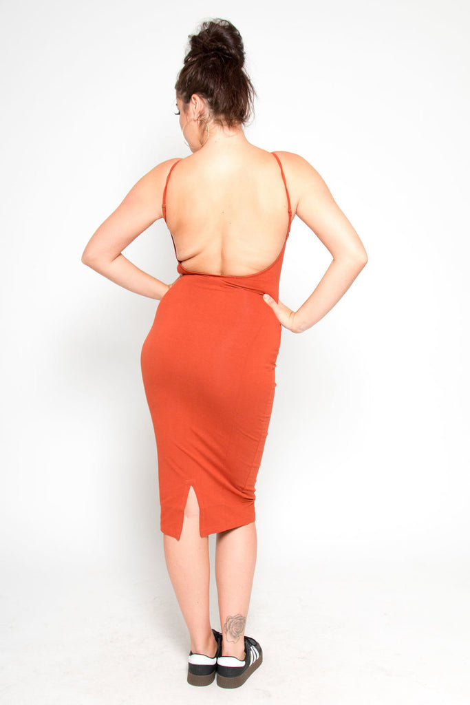 Nata Dress in Burnt Orange