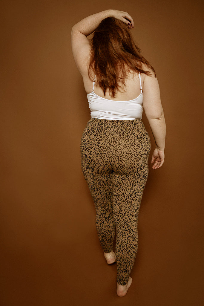 Super High Waisted Tib Pant in Classic Leopard