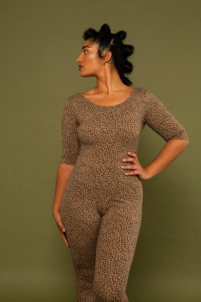 Tbang Jumpsuit in Classic Leopard