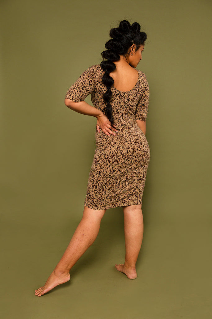 Chama Reversible Pencil Dress in Classic Leopard