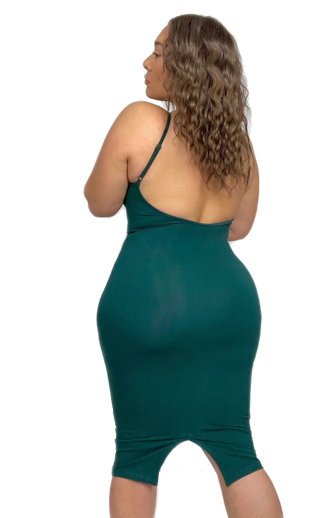 Nata Dress in Forest Green