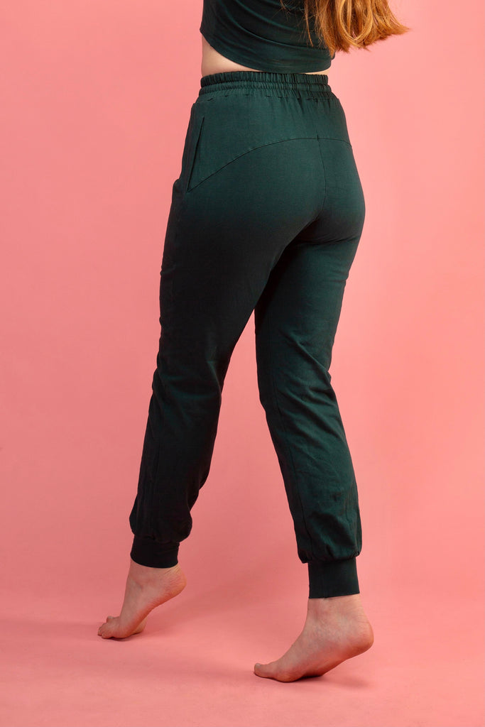 Trackie Trousers in Forest Green