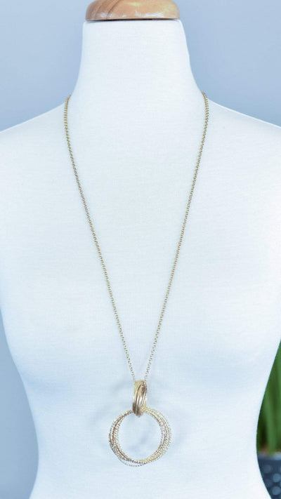 The ZigZag Stripe Urbanista Necklace Gold Natalia Necklace