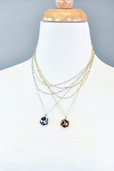 The ZigZag Stripe Urbanista Necklace The Leopard Chic Icon Necklaces