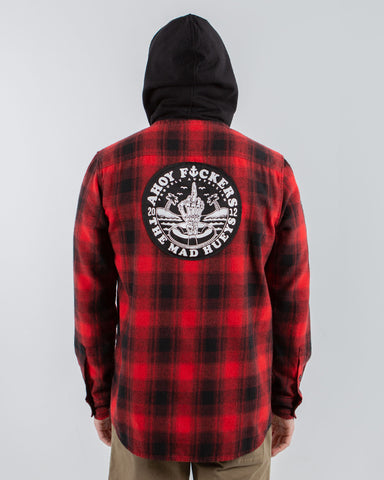 Ahoy F**kers - Hooded Flannel