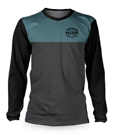Loose Riders - Nelson - New Zealand - Blue Long Sleeve - Riding Jersey