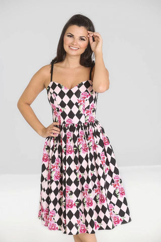 Harlequin 50s Dress