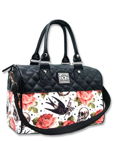 Rose Tattoo (White) - Hand Bag