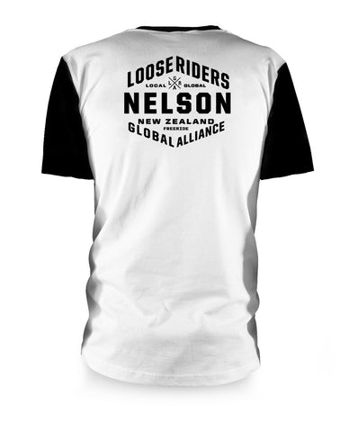 Loose Riders - Nelson - New Zealand - White - Short Sleeve - Riding Jersey
