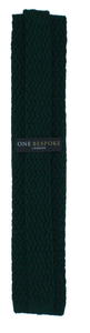 Pine Green Woven Silk Tie one-bespoke-london.myshopify.com