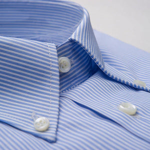 Egyptian Cotton Dress Shirt Blue Striped