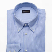 Load image into Gallery viewer, Egyptian Cotton Dress Shirt Blue Striped