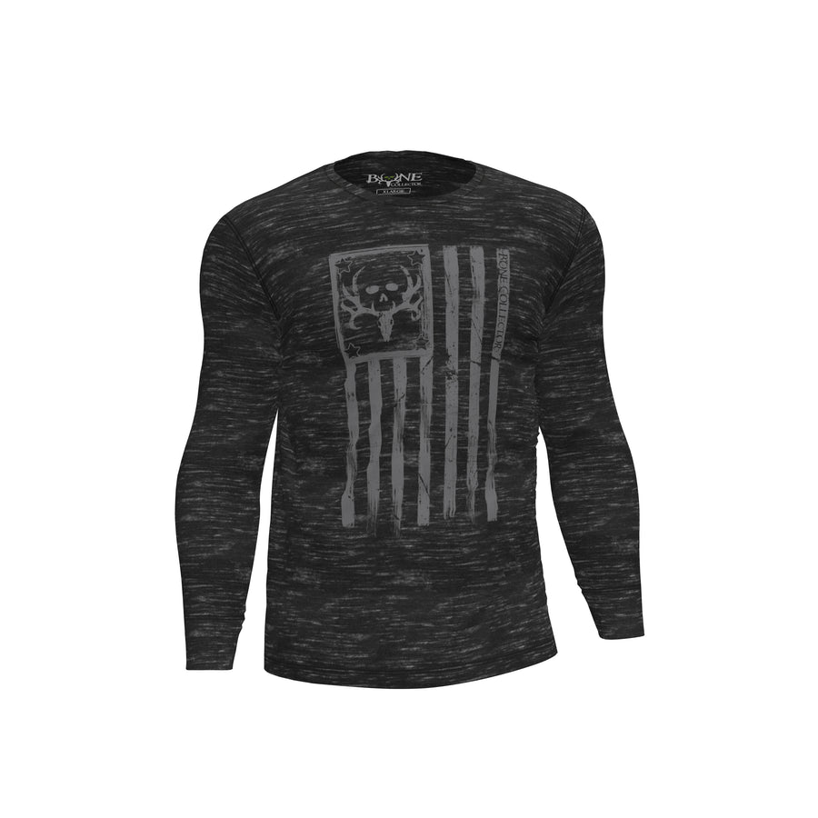 Bone Collector Memorial Long Sleeve T-Shirt by Michael Waddell
