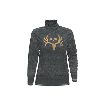 Bone Collector Mesena Cowl Neck Women's Sweatshirt by Michael Waddell