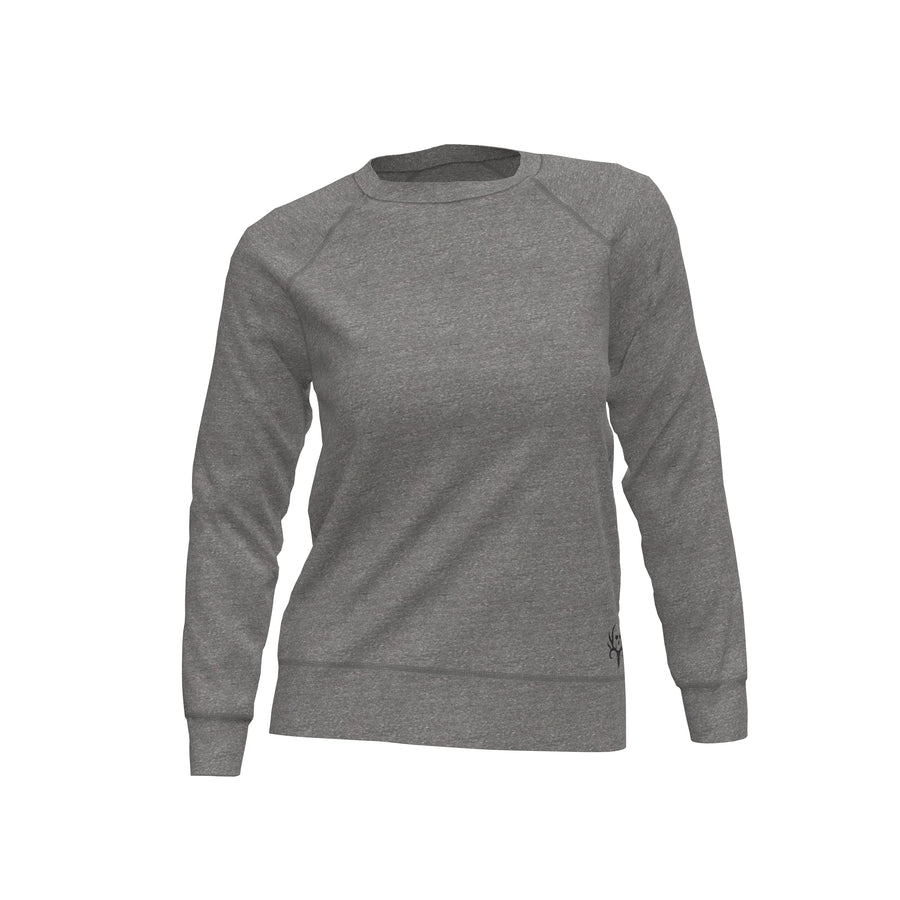 Bone Collector Appling Raglan Women's Fleece Crew by Michael Waddell