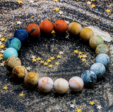 Natural crystal stone bracelet universe - spaceexploration