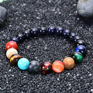 Lovers Eight Planets Natural Stone Bracelet Universe Yoga Chakra Galaxy Solar System Bracelets for Men or Women Jewelry Dropship - spaceexploration