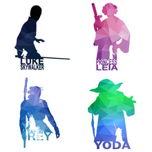 Load image into Gallery viewer, Modern Minimalist Star Wars Oil Painting