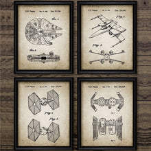 Load image into Gallery viewer, Star Wars Ship Patent Canvas Painting