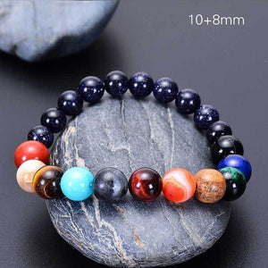 2019 Eight Planets Bead Bracelet Men Natural Stone Universe Yoga Solar Chakra Bracelet for Women Men Jewelry Gifts Drop Shipping - spaceexploration