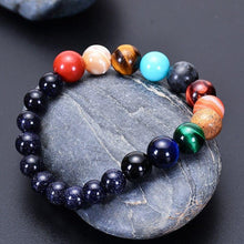 Load image into Gallery viewer, Lovers Eight Planets Natural Stone Bracelet Universe Yoga Chakra Galaxy Solar System Bracelets for Men or Women Jewelry Dropship - spaceexploration