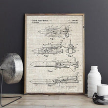 Load image into Gallery viewer, NASA Space Shuttle Blueprint Wall Art - spaceexploration
