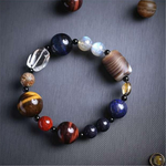 Natural Stone and Cystal Galaxy Bracelet