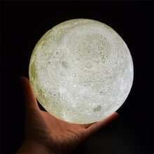Load image into Gallery viewer, 3D Printed Wireless Moon Lamp - spaceexploration