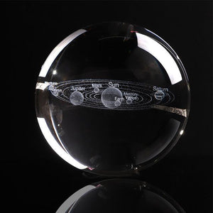 3d solar system crystal globe - spaceexploration