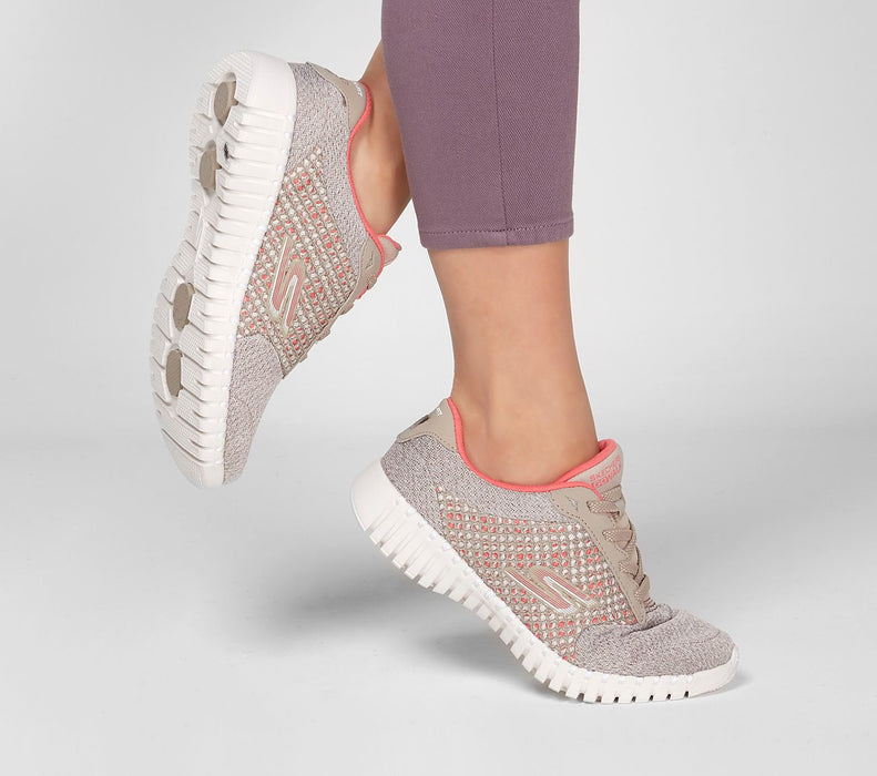 SKECHERS GOWALK SMART-INFLUENCE 16704-TAUPE/CORAL