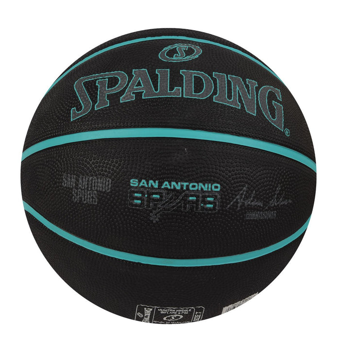 Spalding Team Spurs Basketball Size-7 (Black)