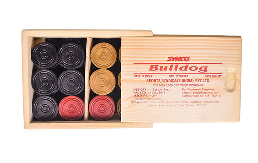 Synco Carrom Accessories - Bulldog Coins