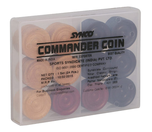 Synco Carrom Accessories - Commander Coins