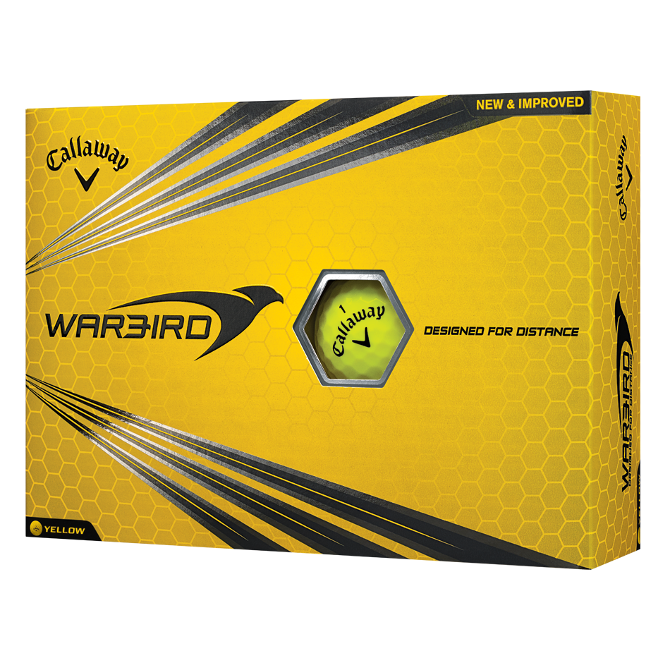 WARBIRD YELLOW LOGO GOLF BALLS (Pack of 12)