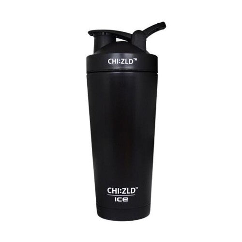 CHIZLD ICE Protein Shaker - Stainless Steel Vacuum Insulated-MATT BLACK