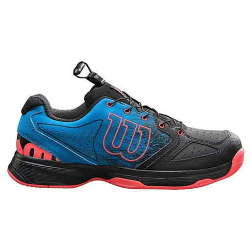 Wilson Kaos QL Junior Shoes - Hawaiian, Black & Fiery Coral