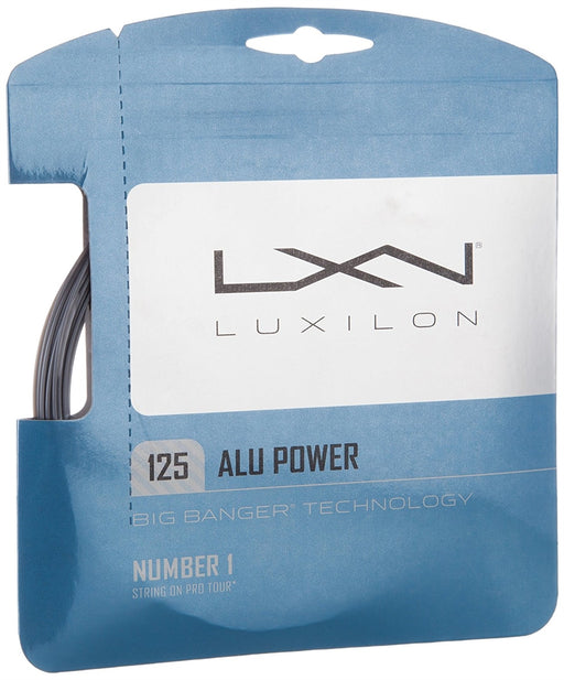 Luxilon Tennis String Set Big Banger Alu Power 16L Silver