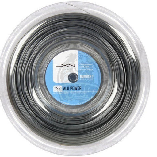 Luxilon ALU POWER 125 SILVER TENNIS STRING REEL-220M