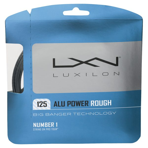 LUXILON ALU POWER 125 ROUGH TENNIS STRING SET - SILVER, 16L GA (1.25MM)
