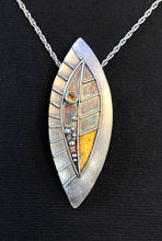 Load image into Gallery viewer, Leaf with Citrine and Gold Keum Boo